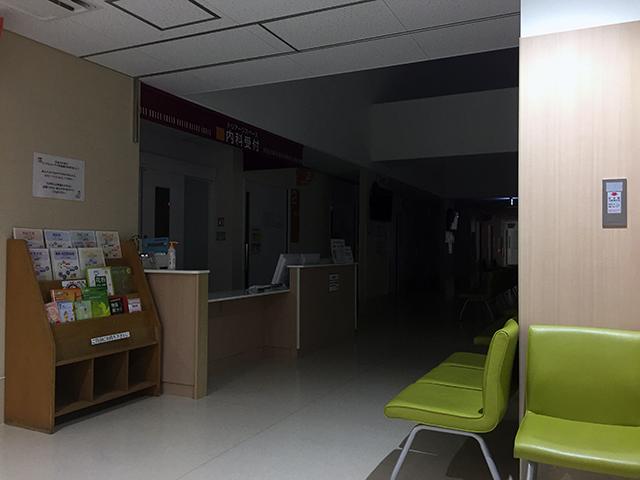夜間の病院は静けさしかない