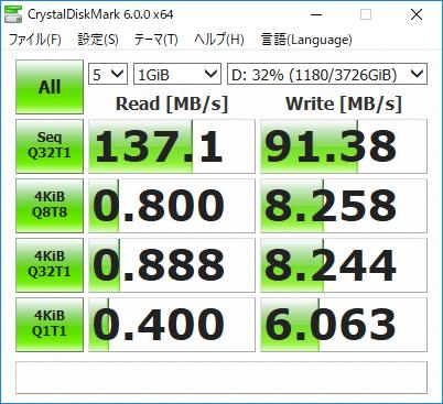 ノーマルHDDの速度