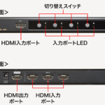 4K&HDR対応のHDMI切替機